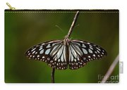 Dark Glassy Tiger Butterfly On Branch Carry-all Pouch