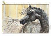 Dark Grey Arabian Horse 2014 02 17 Carry-all Pouch