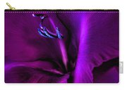 Dark Knight Purple Gladiola Flower Carry-all Pouch by Jennie Marie Schell