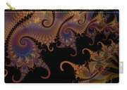 Dark Paisley Tails Carry-all Pouch