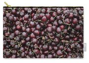 Dark Red Cherries In A Market Display Carry-all Pouch