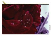 Dark Red Rose Carry-all Pouch