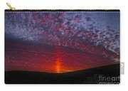 Dark Red Sunset Carry-all Pouch