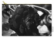 Dark Rose In Black And White Carry-all Pouch
