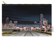 Dark Skies At Citizens Bank Park Carry-all Pouch by Bill Cannon