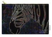 Dark Zebra Carry-all Pouch