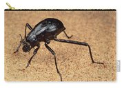 Darkling Beetle Bends Down To Drink Dew Carry-all Pouch