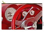 Dashboard Red Classic Car Carry-all Pouch