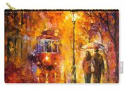 Date By The Trolley - Palette Knife Oil Painting On Canvas By Leonid Afremov Carry-all Pouch