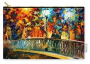 Date On The Bridge - Palette Knife Oil Painting On Canvas By Leonid Afremov Carry-all Pouch