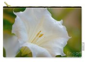 Datura Hybrid White Flower Carry-all Pouch