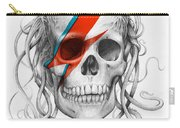 David Bowie Aladdin Sane Medusa Skull Carry-all Pouch
