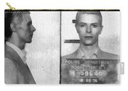 David Bowie Mug Shot Carry-all Pouch