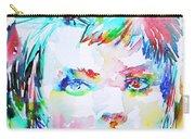 David Bowie - Watercolor Portrait.6 Carry-all Pouch