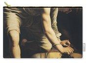 David Victorious Over Goliath Carry-all Pouch by Michelangelo Merisi da Caravaggio