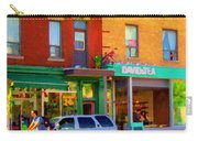 Davids Tea Room Rue St Viateur Next To The Bagel Shop Montreal Street Scene Art Carole Spandau   Carry-all Pouch