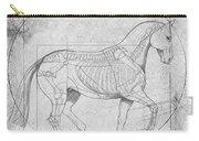 Da Vinci Horse Piaffe Grayscale Carry-all Pouch