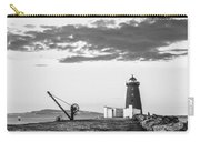 Davit And Lighthouse On A Breakwater Carry-all Pouch