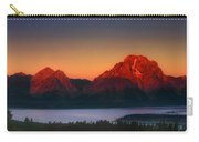 Dawn Light On The Tetons Grant Tetons National Park Wyoming Carry-all Pouch