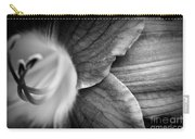 Day Lily Detail - Black And White Carry-all Pouch
