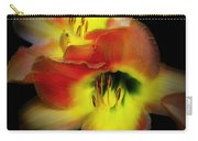 Day Lily On Black Carry-all Pouch