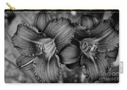 Daylilies Black And White Carry-all Pouch