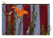 Daylily And Old Glory Carry-all Pouch