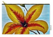 Daylily Expressive  Brushstrokes Carry-all Pouch