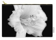 Daylily Flower Portrait Black And White Carry-all Pouch