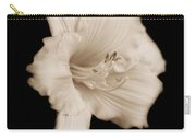 Daylily Flower Portrait Sepia Carry-all Pouch