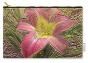 Daylily In Gold Leaf Carry-all Pouch