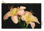 Daylily Pair Carry-all Pouch