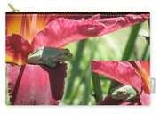 Daylily Shade For A Tree Frog Carry-all Pouch