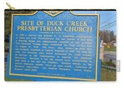 De-kc81 Site Of Duck Creek Presbyterian Church Carry-all Pouch