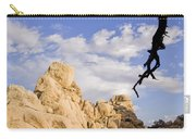 Dead Tree Limb Hanging Over Rocky Landscape In The Mojave Desert Carry-all Pouch