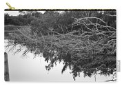 Deadfall Reflection In Black And White Carry-all Pouch