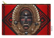Dean Gle Mask By Dan People Of The Ivory Coast And Liberia On Red Leather Carry-all Pouch
