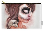 Deathlike Skull Impression Carry-all Pouch