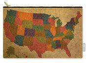 Declaration Of Independence Word Map Of The United States Of America Carry-all Pouch