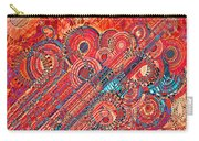 Deco Flower Swirls Carry-all Pouch