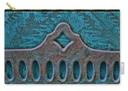 Deco Metal Blue Carry-all Pouch