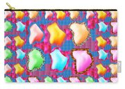 Deco Pattern Patchup Collage Crystals Jewels Rose Flower Petals Carry-all Pouch