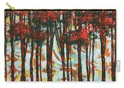 Decorative Abstract Floral Bird Landscape Painting Forest Of Dreams II By Megan Duncanson Carry-all Pouch by Megan Duncanson