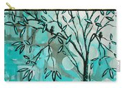 Decorative Abstract Floral Birds Landscape Painting Bird Haven I By Megan Duncanson Carry-all Pouch