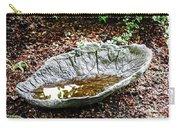 Decorative Leaf Birdbath Carry-all Pouch