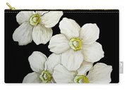 Decorative White Floral Flowers Art Original Chic Painting Madart Studios Carry-all Pouch