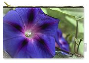Deep Blue Morning Glories Carry-all Pouch