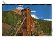Deep Blue Over Historic Silver And Gold Carry-all Pouch