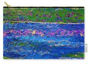 Deep Blue Texture Abstract Carry-all Pouch