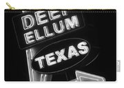 Deep Ellum Black And White Carry-all Pouch